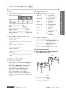 communicative lesson plan demonstrative pronouns Find plural and singular pronouns lesson plans and teaching resources from singular and plural pronouns worksheets to singular nada plural pronouns videos, quickly find teacher-reviewed educational resources  ask your pupils to demonstrate their understanding of demonstrative pronouns by completing this worksheet there are two parts to.
