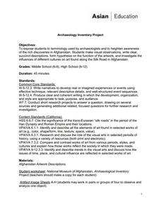 Archaeology Inventory Project Lesson Plan