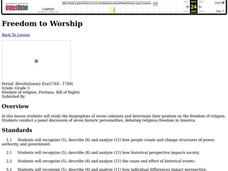 Freedom to Worship Lesson Plan