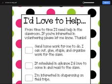 I'd Love to Help Printables & Template
