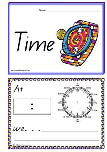 Time Concept Book Printables & Template
