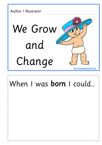 growing and changing concept book printables  u0026 template for pre-k
