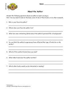 About the Author Lesson Plan