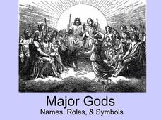 Major Gods: Names, Roles, & Symbols Presentation