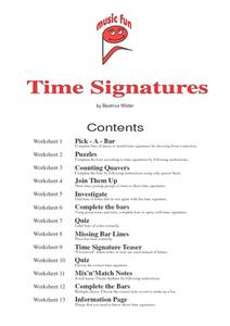 Time Signatures Handouts & Reference