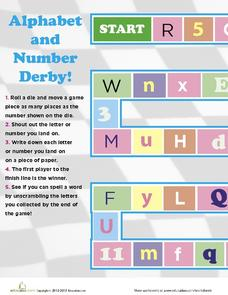 Alphabet and Number Derby! Activities & Project