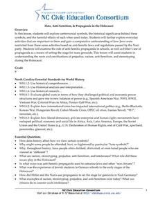 Hate, Anti‐Semitism, & Propaganda in the Holocaust Lesson Plan