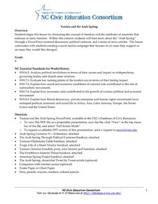 Tunisia and the Arab Spring Activities & Project