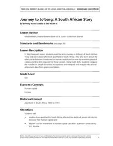 Journey to Jo'burg: A South African Story Lesson Plan