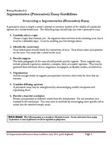 persuasive thesis statements lesson plans worksheets argumentative persuasive essay guidelines worksheet