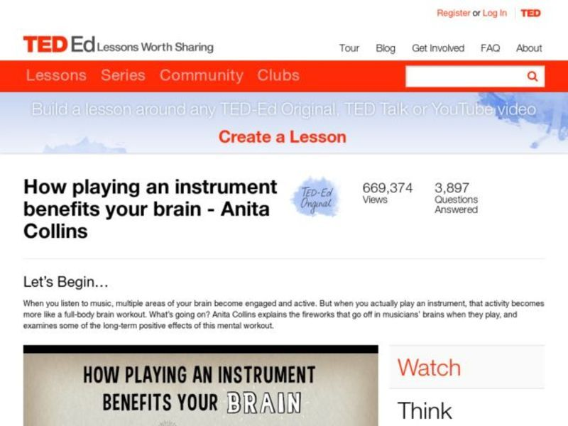 How Playing an Instrument Benefits Your Brain Video