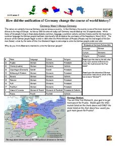 how did the unification of germany change the course of world history worksheet for 10th 12th. Black Bedroom Furniture Sets. Home Design Ideas
