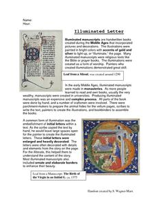 Illuminated Letter Activities & Project
