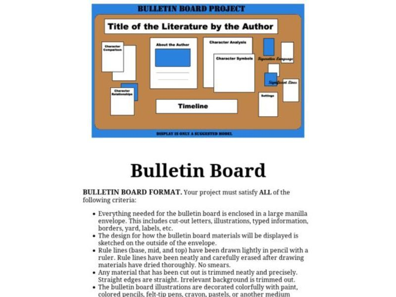 Bulletin Board Project Activities & Project