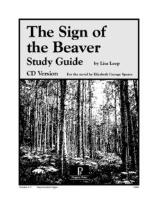The Sign of the Beaver Study Guide Worksheet