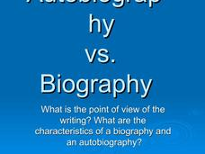 Autobiography vs. Biography Presentation