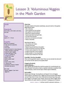 Voluminous Veggies in the Math Garden Lesson Plan
