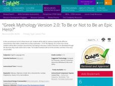 Greek Mythology Version 2.0: To Be or Not to Be an Epic Hero? Lesson Plan