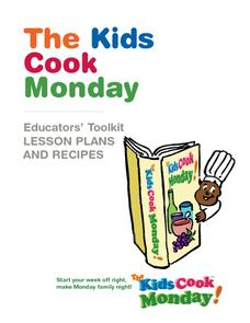 The Kids Cook Monday Educator's Kit Activities & Project