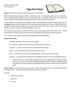 Page One Project Activities & Project