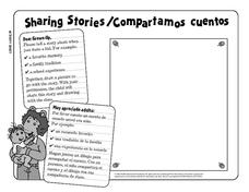 Sharing Stories/Compartamos Cuentos Writing Prompt