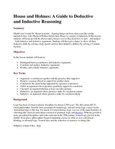 House and Holmes: A Guide to Deductive and Inductive Reasoning Activities & Project