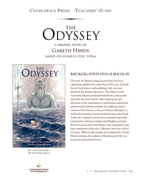 The Odyssey A Graphic Novel By Gareth Hinds Activities Project