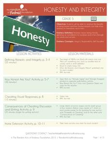 Honesty and Integrity Activities & Project
