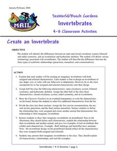 Create an Invertebrate Activities & Project