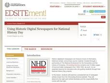 Using Historic Digital Newspapers for National History Day Lesson Plan