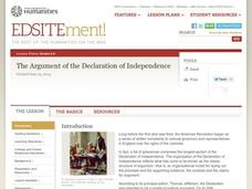 The Argument of the Declaration of Independence Lesson Plan