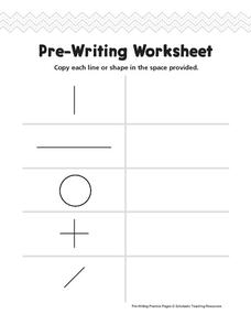 Pre-Writing Worksheet Worksheet