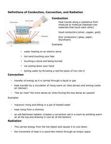 convection conduction radiation worksheet - Termolak