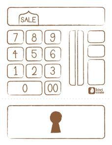 pretend cash register printables template for pre k 2nd grade