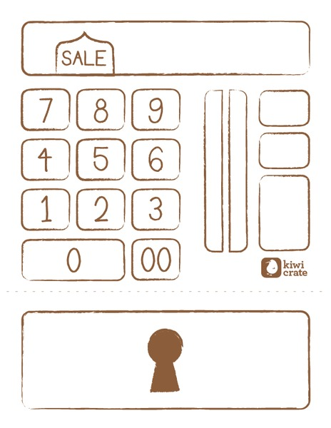 pretend cash register printables  u0026 template for pre