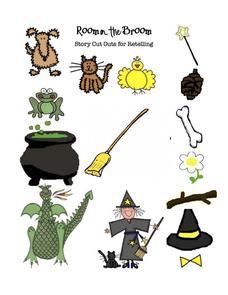 Room on the Broom Story Cut Outs for Retelling Printables & Template