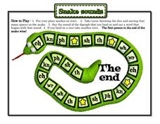 Snake Sounds Digraph Game Board Activities & Project
