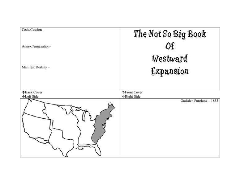 The Not So Big Book of Westward Expansion 8th 11th Grade – Westward Expansion Worksheets
