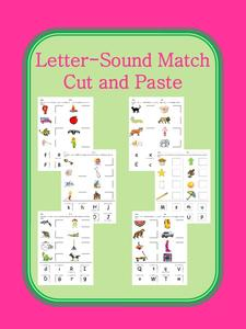 Letter-Sound Match Cut and Paste Worksheet