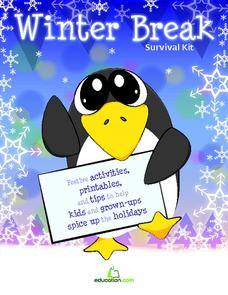 Winter Break Survival Kit Activities & Project