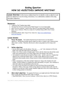 How Do Adjectives Improve Writing? Lesson Plan