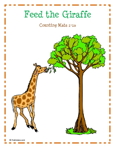 Feed the Giraffe Mats Printables & Template