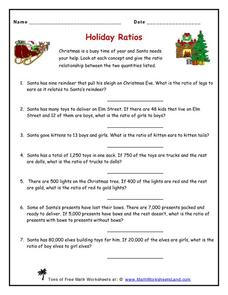Holiday Ratios Worksheet