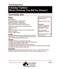 A Holiday Tradition: Which Christmas Tree Will You Choose? Lesson Plan