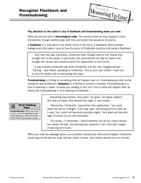 Foreshadowing Suspense Lesson Plans &amp- Worksheets Reviewed by Teachers