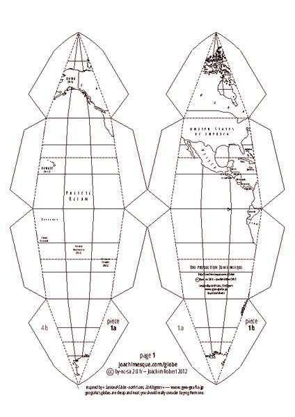 globe foldable printables  u0026 template for 4th