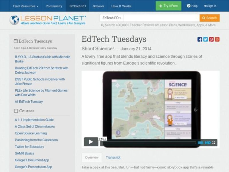 EdTech Tuesdays: Shout Science! Video