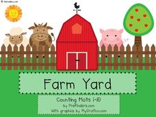 Farm Yard Play Dough Counting Mats Printables & Template
