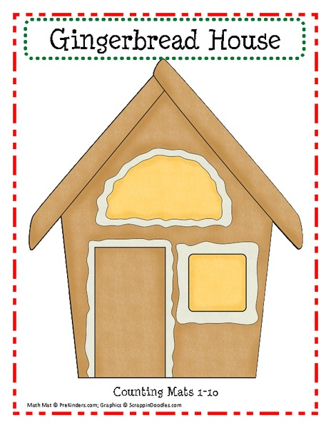 Gingerbread House Play Dough Mats Printables & Template