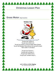Christmas Lesson Plan: Gross Motor & Fine Motor Skills Activities & Project